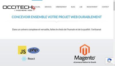 Site internet de Occitech
