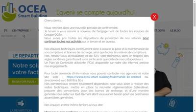 Site internet de Ocea Smart Building