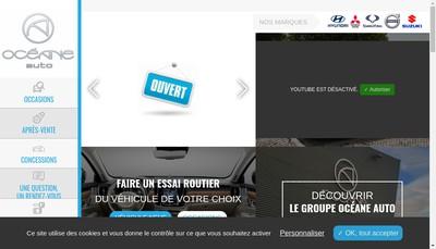 Site internet de L'Oceane Automobiles