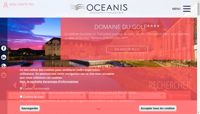 Site internet de Oceanis Promotion