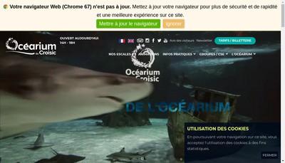 Site internet de L'Ocearium du Croisic