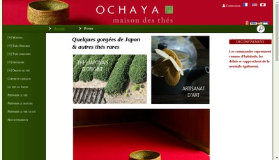 Site internet de Thes Ochaya