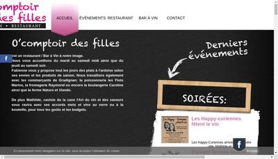 Site internet de O Comptoir des Filles