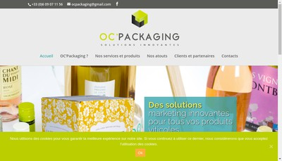 Site internet de Oc'Packaging