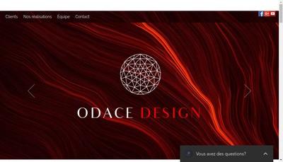 Site internet de Odace Design