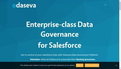 Site internet de Odaseva Technologies
