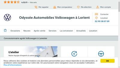 Site internet de Odyssee Automobiles