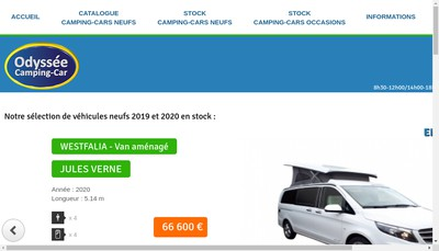 Site internet de Odyssee Camping-Car