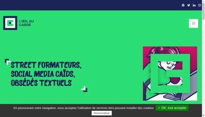 Site internet de L'Oeil au Carre