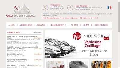 Site internet de Oep Ouest Encheres Publiques