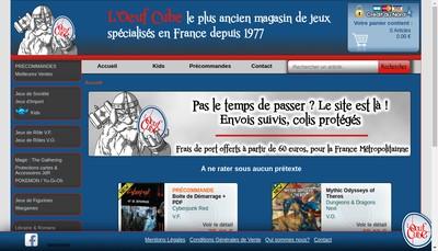 Site internet de L'Oeuf Cube