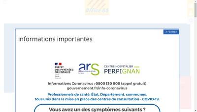 Site internet de Office Public de l'Habitat des Pyrenees Orientales