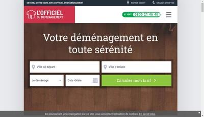 Site internet de L'Officiel du Demenagement