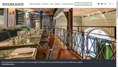 Site internet de Caffè Gusto