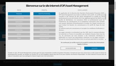 Site internet de Ofi Asset Management