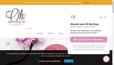 Site internet de Oh My Shop