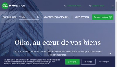 Site internet de Oiko Gestion