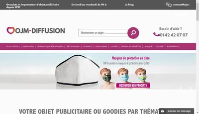Site internet de Ojm Diffusion