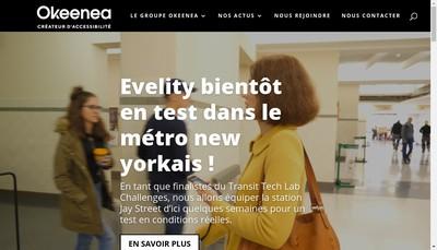 Site internet de Okeenea Produit