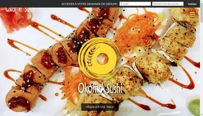 Site internet de Okome Sushi