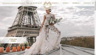 Site internet de Oksana Mukha Paris