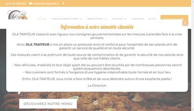 Site internet de Ola Paella Traiteur