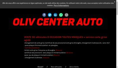 Site internet de Oliv Center Auto