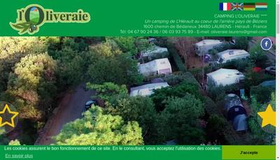 Site internet de Camping l'Oliveraie