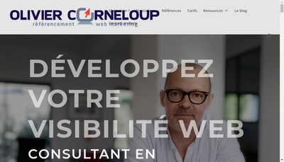 Site internet de Olivier Corneloup Referencement