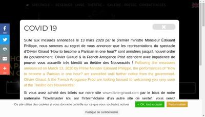 Site internet de French Arrogance Prod
