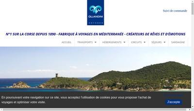 Site internet de Ollandini Voyages