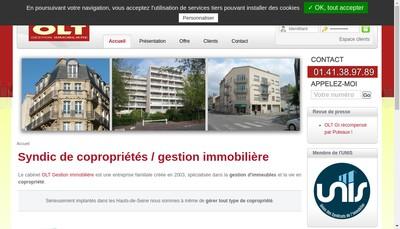 Site internet de Olt Gestion Immobiliere