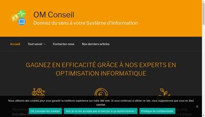 Site internet de Om Conseil