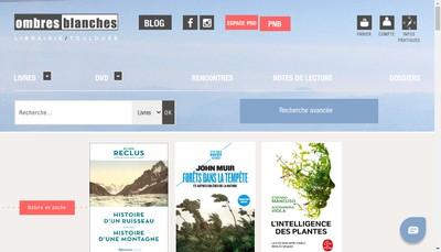 Site internet de Ombres Blanches