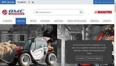 Site internet de OMC Manutention