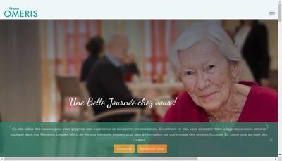 Site internet de Reseau Omeris