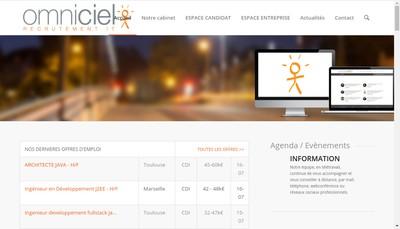 Site internet de Omniciel Profils et Solutions