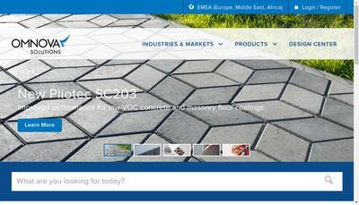 Site internet de Omnova Solutions