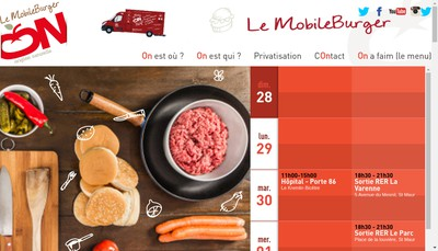 Site internet de Mobile Burger