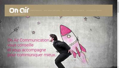 Site internet de SARL On Air Communication
