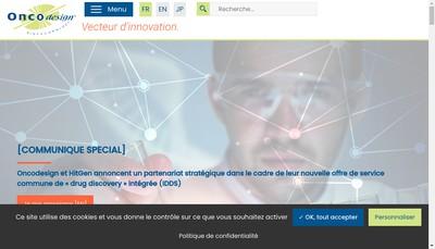 Site internet de Oncodesign