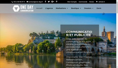 Site internet de One Day Communication