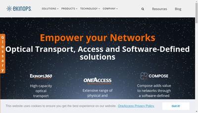 Site internet de Ekinops France