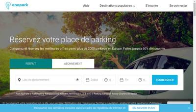 Site internet de Onepark