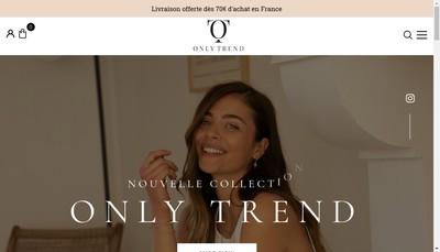 Site internet de Only Trend