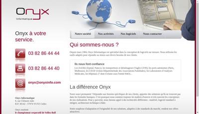 Site internet de Onyx Informatique