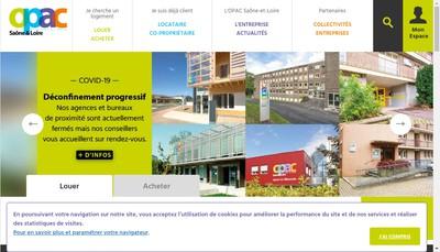 Site internet de OPAC 71