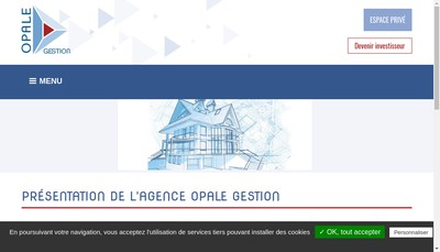 Site internet de Opale Gestion