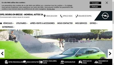 Site internet de SA Mondial Autos