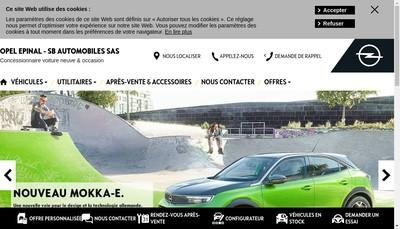 Site internet de Opel